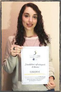 Roberta Cappiello - Vincitrice del premio finanziato da STUDIO TRE